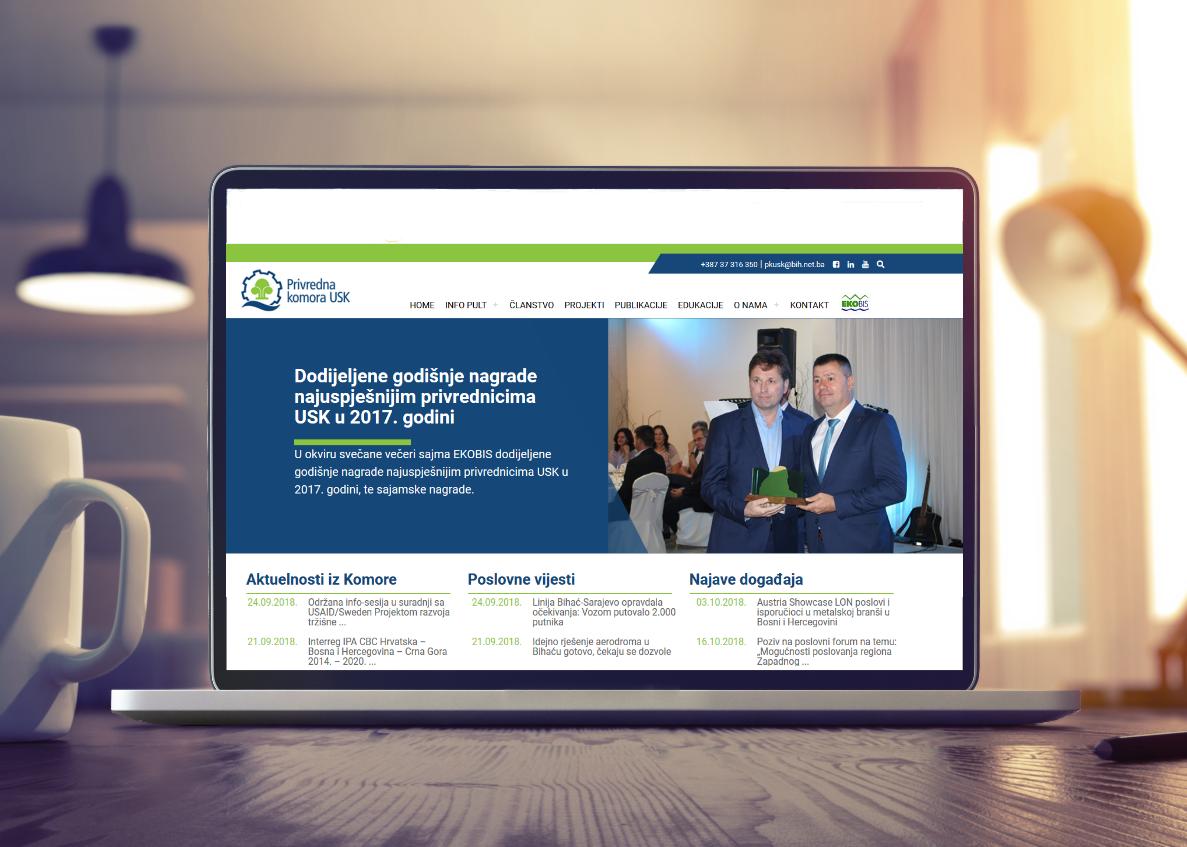 Privredna komora Unsko-sanskog kantona ima novu redizajniranu web stranicu