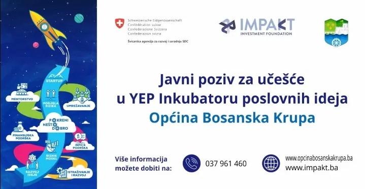 Javni poziv za ucesce u YEP inkubatoru poslovnih ideja Bosanska Krupa