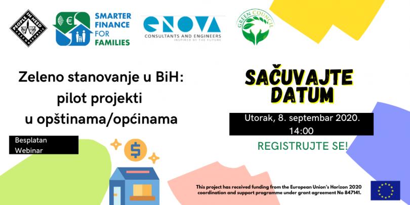Zeleno stanovanje u BiH: pilot projekti u općinama