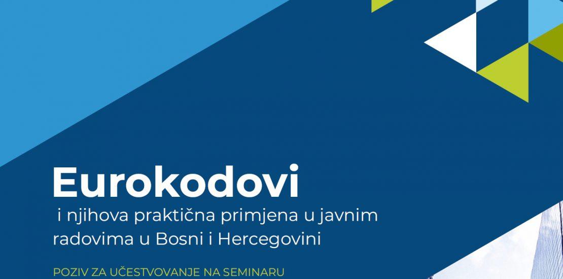 Seminar/webinar Eurokodovi i njihova praktična primjena u javnim radovima u Bosni i Hercegovini